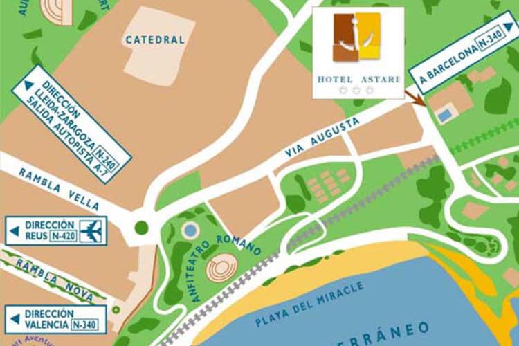 Hotel-Astari-Tarragona-mapa