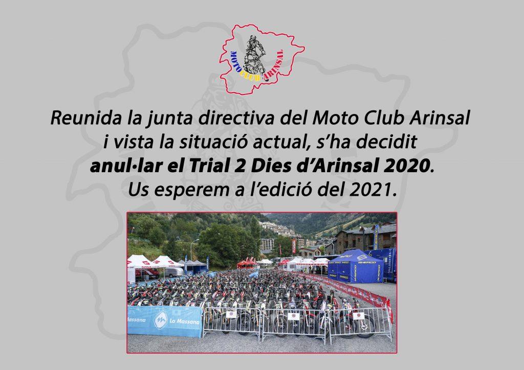 anulacion 2 dias trial arinsal 2020