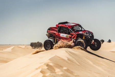 Laia Sanz & Lucas Cruz in action during the Dubai Baja , Dubai on Fabruary 17, 2021