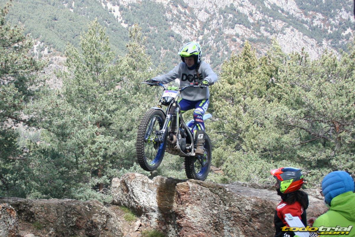 Laia Pi en la segunda prueba del Campeonato de Andorra