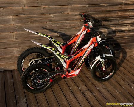 moto de trial trs niño 16