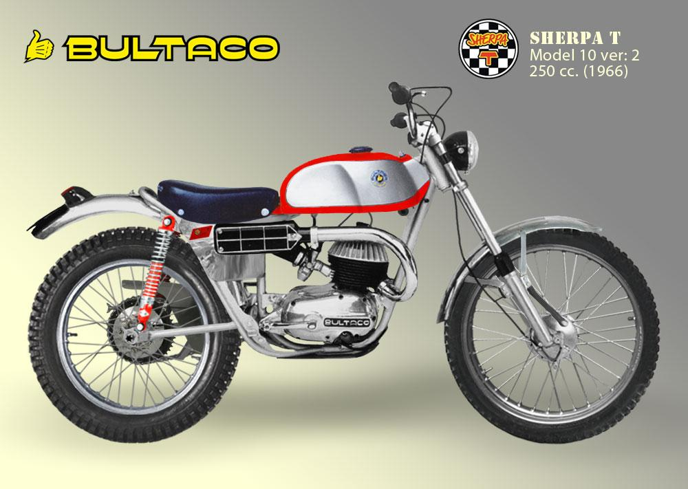Bultaco Sherpa T Modelo 10 segunda serie