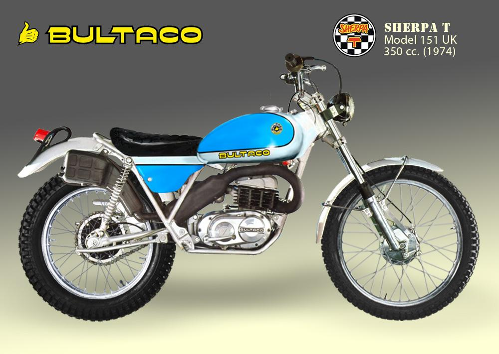 Bultaco Sherpa T model 151 uk